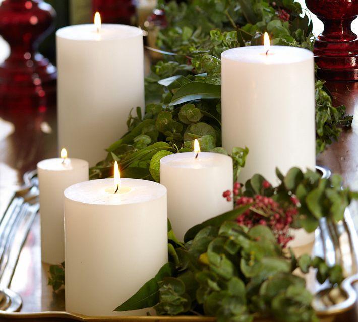 Новогодние идеи декора свечами и подсвечниками