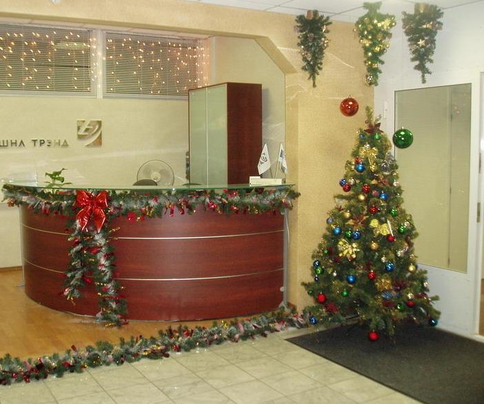 Новогоднее оформление офисов