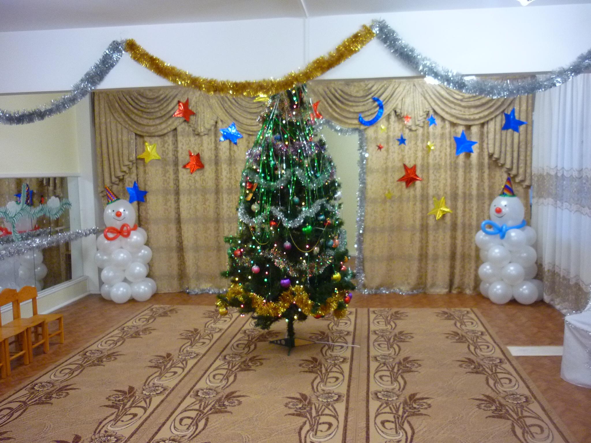 Новогоднее оформление зала своими руками