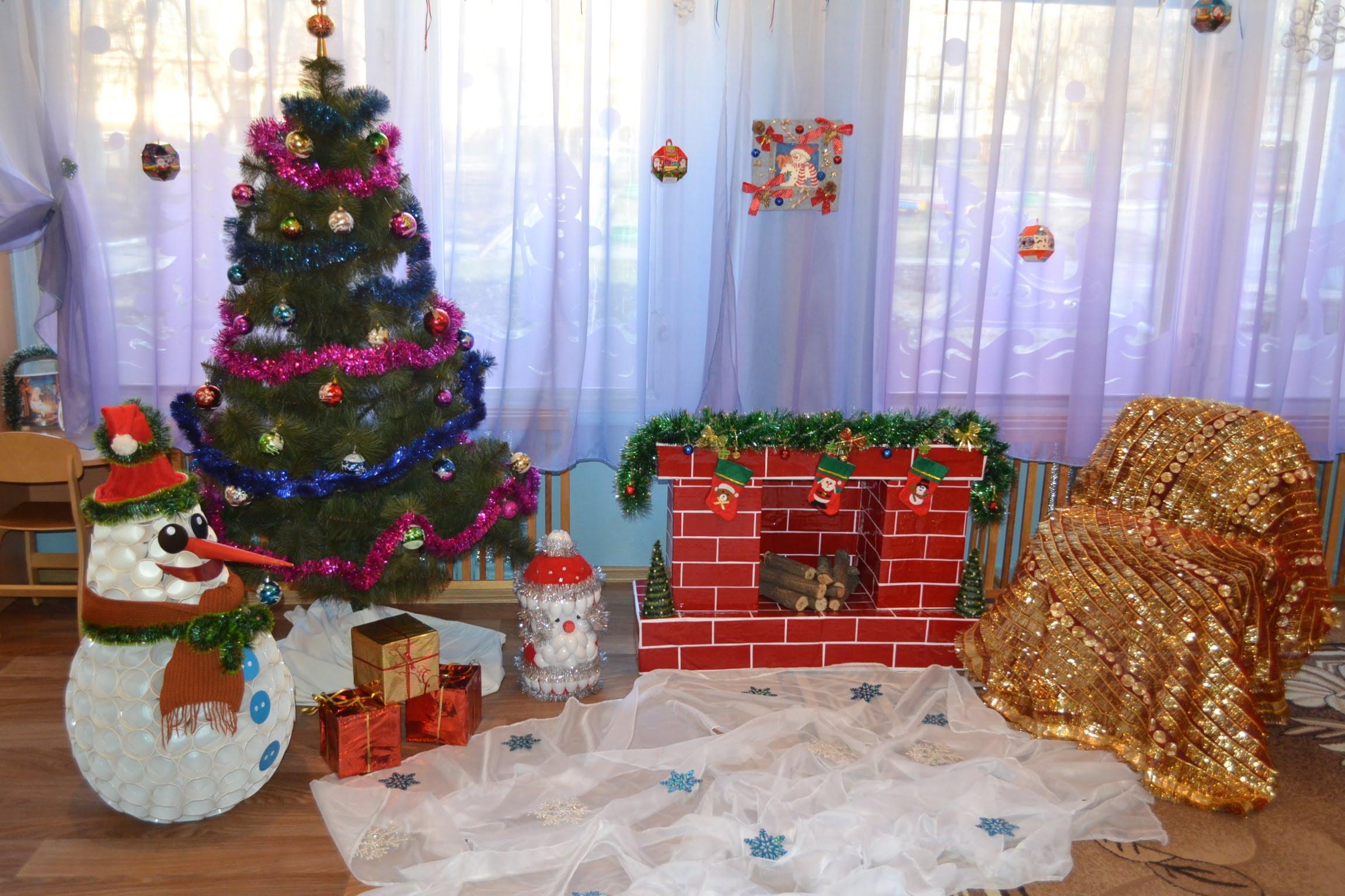 Чем украсить детский сад в новый год